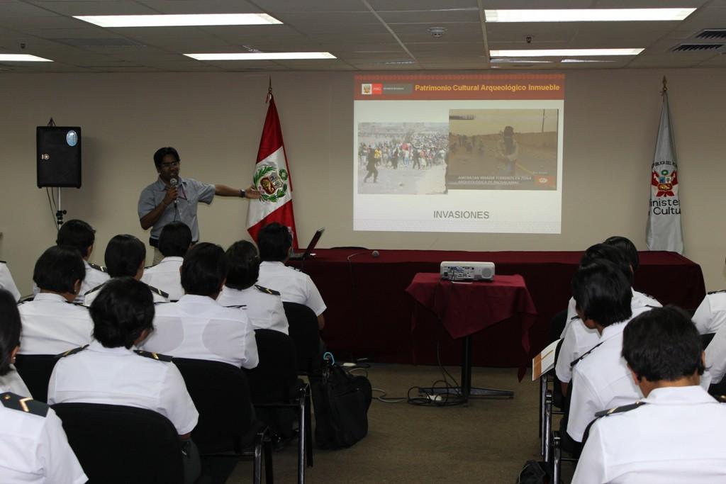 Ministerio de cultura capacita a la polic a nacional de turismo en defensa del patrimonio for Ministerio policia nacional