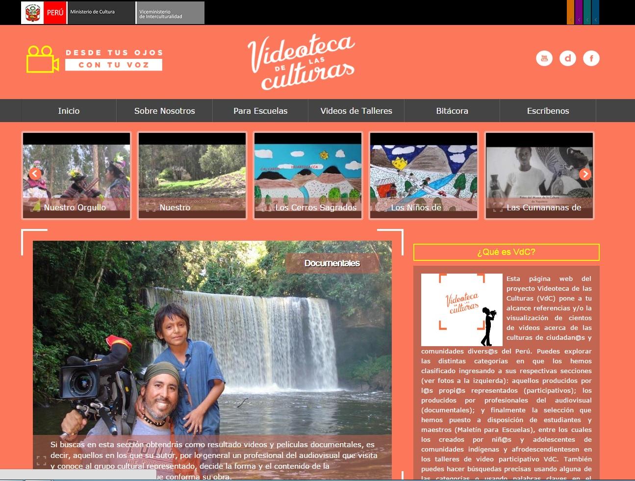 Ministerio de cultura presenta p gina web del proyecto for Sitio web ministerio del interior