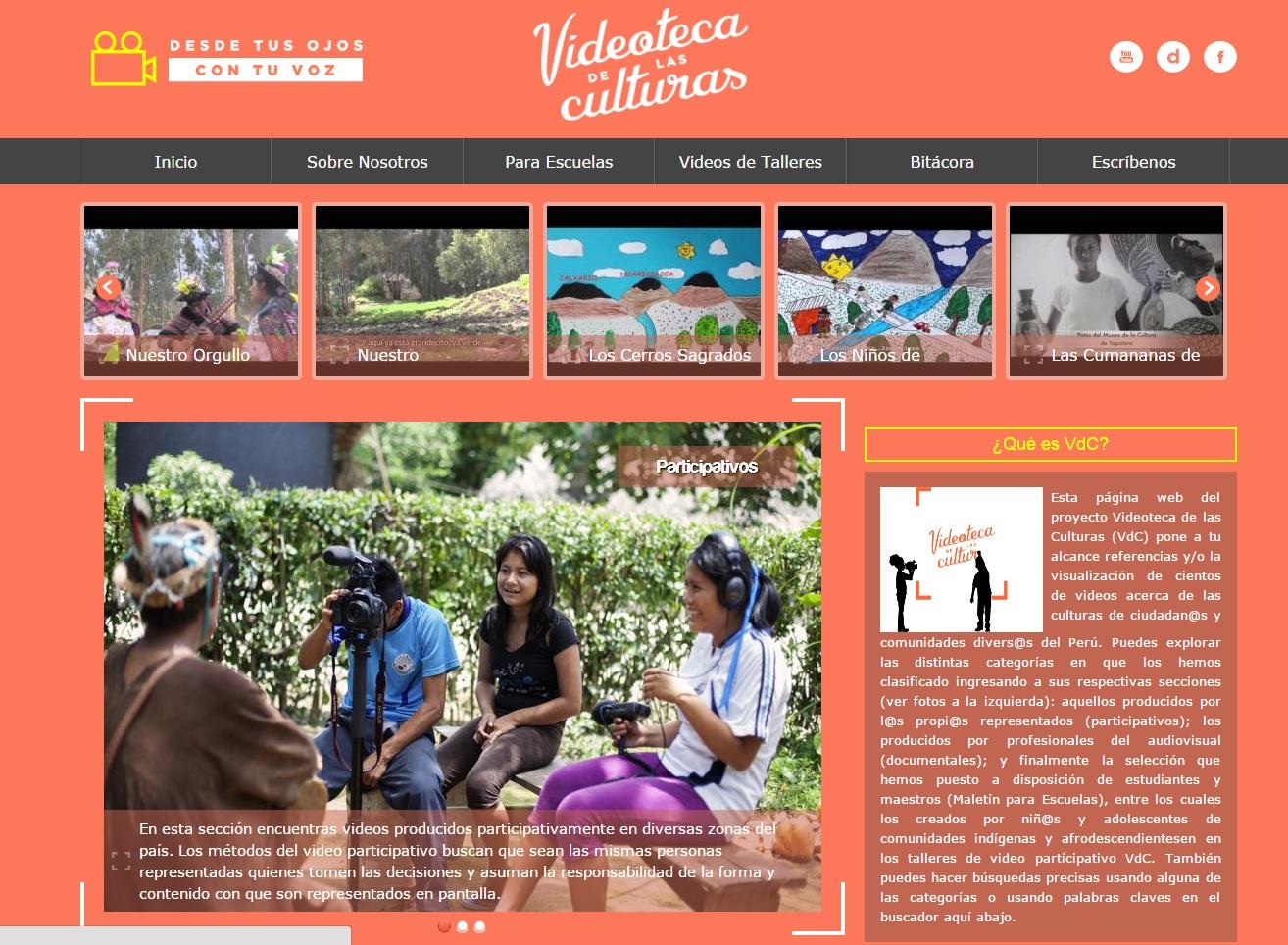 Ministerio de cultura presenta p gina web del proyecto for Pagina web del ministerio