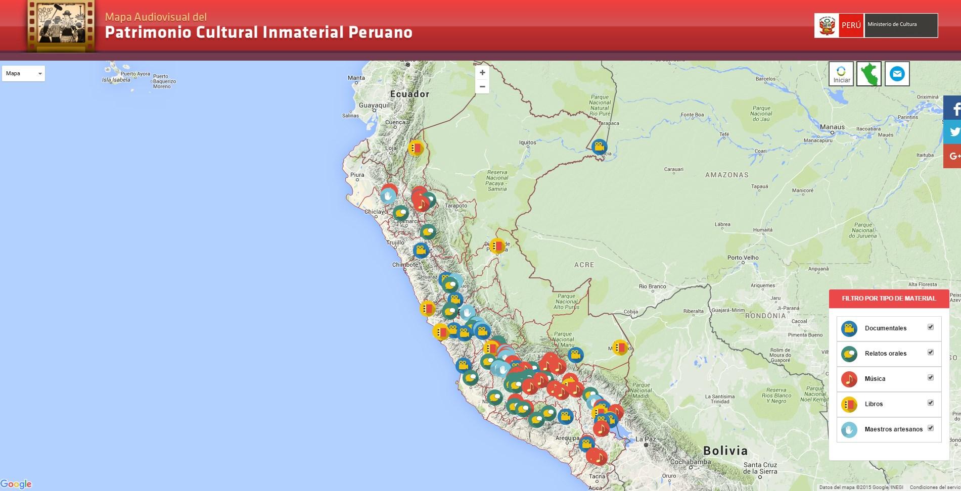 Ministerio de cultura presenta mapa audiovisual del for Ministerio del interior ubicacion mapa